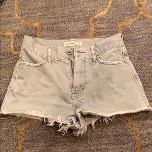 Abercrombie Kids Grey Denim Shorts
